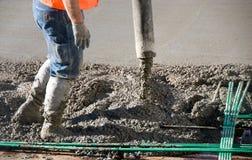 Het cement giet pret royalty-vrije stock fotografie