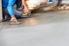 Het cement van het vloerpleister Stock Foto