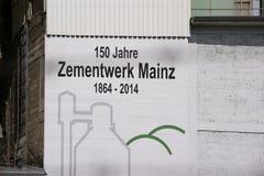 Het cementinstallatie Mainz van Heidelberg Royalty-vrije Stock Fotografie