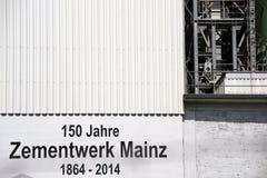 Het cementinstallatie Mainz van Heidelberg Royalty-vrije Stock Afbeelding