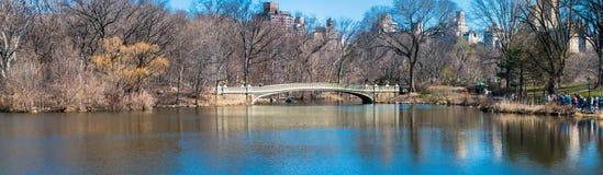 Het Central Park NYC van de boogbrug Stock Afbeeldingen