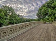 Het Central Park van de boogbrug stock fotografie