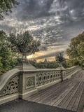Het Central Park van de boogbrug Royalty-vrije Stock Afbeeldingen