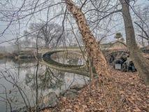 Het Central Park van de boogbrug Royalty-vrije Stock Foto