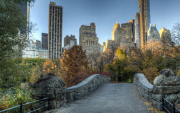 Het Central Park van de Gapstowbrug, de Stad van New York stock fotografie