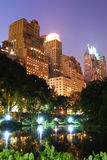 Het Central Park van de Stad van New York bij nacht Royalty-vrije Stock Fotografie