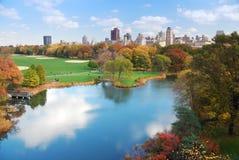 Het Central Park van Manhattan van de Stad van New York royalty-vrije stock afbeelding