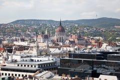 Panorama van Boedapest. De mening vanaf de bovenkant Royalty-vrije Stock Fotografie