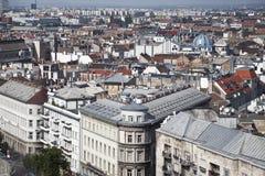 Panorama van Boedapest. De mening vanaf de bovenkant Stock Afbeelding