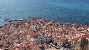 Het centrale deel van de Cefalu-stad Het gebied van Sicili?, Itali? stock video