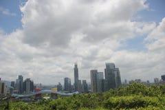 Het centrale district van Shenzhenfutian Stock Afbeeldingen