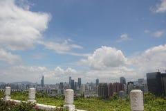 Het centrale district van Shenzhenfutian Royalty-vrije Stock Afbeeldingen