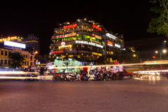Het centrale gebied van Hanoi in de avond Royalty-vrije Stock Afbeelding