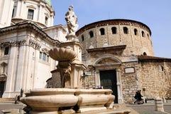 Het centrale plein van Brescia Stock Afbeelding