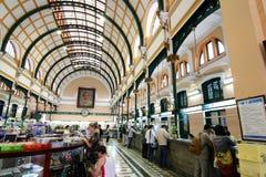 Het Centrale Postkantoor van Saigon, Vietnam Royalty-vrije Stock Foto