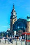 Het centrale station Hauptbahnhof, Hamburg Duitsland van Hamburg royalty-vrije stock foto's