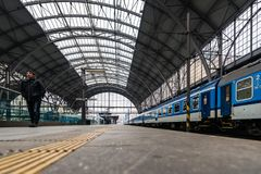 Het Centrale Station van Praag Stock Foto's