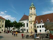 Het centrale vierkant van Bratislava Royalty-vrije Stock Foto's