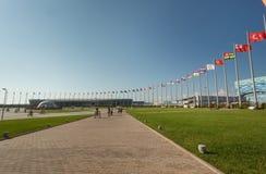 Het centrale vierkant van het Olympische Park Stock Afbeeldingen