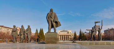 Het Centrale vierkant van Novosibirsk stock fotografie