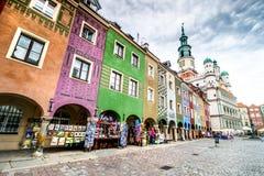 Het centrale vierkant van Poznan royalty-vrije stock afbeeldingen