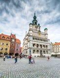 Het centrale vierkant van Poznan stock afbeeldingen