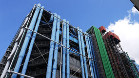 Het Centre Pompidou in Parijs, Frankrijk Stock Afbeelding
