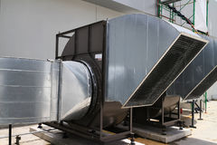 Het centrifugaal Industriële Type van Luchtventilator Stock Foto