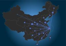 Het centrum China van Shanghai royalty-vrije illustratie