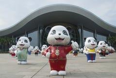 Het Centrum Chinese panda's van de Guangzhouwetenschap Royalty-vrije Stock Afbeeldingen