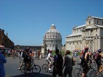 In het centrum dat baptistery op Piazza del duomo wordt gevestigd Stock Foto's