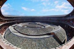 Het centrum dat van aarde Hakka 5 bouwt Stock Afbeelding