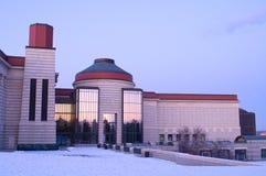 Het Centrum en het Terras van de Geschiedenis van Minnesota bij Schemer royalty-vrije stock foto