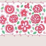 Het centrum naadloos patroon van het bloempastel royalty-vrije illustratie