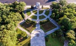 Het centrum van Chisinau, de hoofdstad van Republiek Moldavië royalty-vrije stock foto's