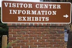 Het Centrum van de bezoeker stock afbeelding
