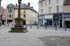 Het centrum van de Cirencesterstad Royalty-vrije Stock Afbeelding