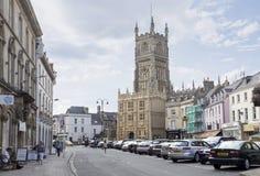 Het centrum van de Cirencesterstad royalty-vrije stock foto's
