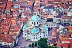 Het centrum van de Comostad en kathedraal Italië stock afbeeldingen