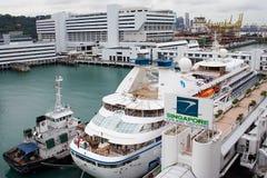 Het Centrum van de Cruise van Singapore Royalty-vrije Stock Foto's