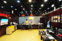 Het centrum van de de camerareparatie van Nikon Stock Foto