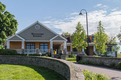 Het Centrum van de Distilleerderijbezoekers van de Woodfordreserve stock afbeeldingen