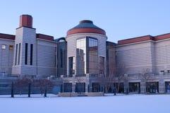 Het Centrum van de Geschiedenis van Minnesota bij Schemer stock afbeelding