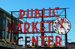 Het Centrum van de openbare Markt in Seattle Washington Stock Foto