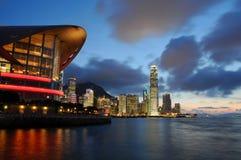 Het Centrum van de Overeenkomst & van de Tentoonstelling van Hongkong Stock Afbeeldingen