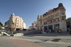 Het centrum van de Plovdivstad, Bulgarije royalty-vrije stock fotografie