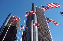 Het Centrum van de renaissance in Detroit Stock Fotografie