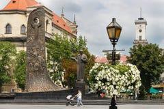 Het centrum van de stad Stock Afbeeldingen