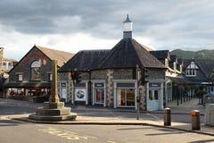 Het centrum van de stad in Ambleside Engeland Stock Foto's