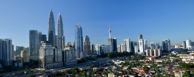 Het Centrum van de Stad van Kuala Lumpur Stock Afbeeldingen